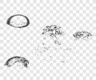 Bolle dell'acqua del sapone di vettore Fotografia Stock Libera da Diritti
