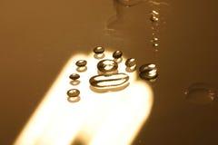 Bolle dell'olio dell'acqua Fotografie Stock