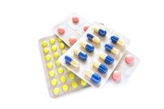Bolle delle pillole fotografia stock