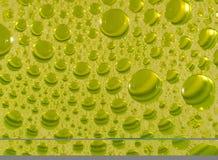 Bolle detersive diluite in vetro Fotografie Stock Libere da Diritti