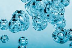 Bolle di aria Fotografia Stock