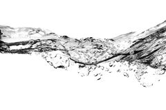 Bolle di aria in acqua - in bianco e nero fotografia stock libera da diritti