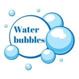 Bolle di aria blu da acqua Illustrazione di vettore royalty illustrazione gratis