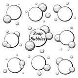 Bolle di aria nere messe da acqua Illustrazione di vettore royalty illustrazione gratis