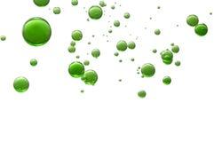 Bolle di aria verdi Fotografia Stock Libera da Diritti