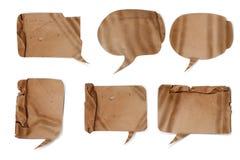 Bolle di carta ondulate di discorso Immagine Stock Libera da Diritti