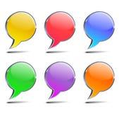 bolle di chiacchierata Immagini Stock
