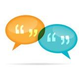 Bolle di chiacchierata di citazione Immagine Stock