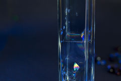 Bolle di colore nel vetro Immagine Stock