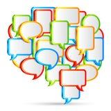 Bolle di conversazione. Immagine Stock