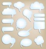 Bolle di conversazione Fotografia Stock