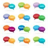 Bolle di conversazione di argomento di chiacchierata Immagine Stock