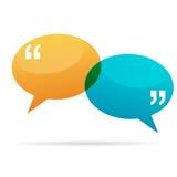 Bolle di conversazione di citazione Immagine Stock
