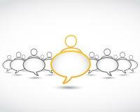 Bolle di dialogo di concetto di affari Immagini Stock Libere da Diritti