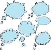 Bolle di pensiero e di discorso. Immagini Stock