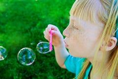bolle di salto Fotografia Stock