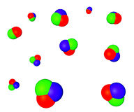 Bolle di sapone di RGB. Fotografia Stock Libera da Diritti