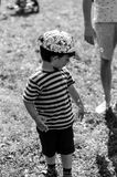 Bolle di sapone e del ragazzo Fotografia Stock