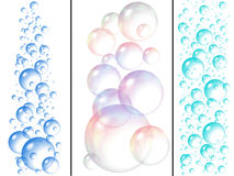 Bolle di sapone e dell'acqua Fotografia Stock