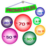 Bolle di vendita di promo Fotografie Stock