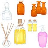 Bolle e bottiglie differenti Immagine Stock