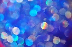 Bolle e cerchi astratti su fondo blu fotografia stock libera da diritti