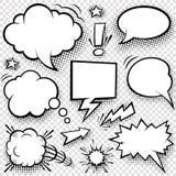 Bolle ed elementi comici illustrazione vettoriale