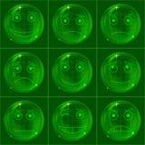 Bolle gli smiley, verde Immagine Stock Libera da Diritti