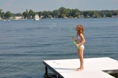 Bolle nel lago 2 Immagine Stock Libera da Diritti