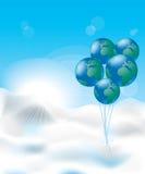 Bolle nel modulo del globo illustrazione vettoriale