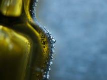 Bolle sulla bottiglia Fotografie Stock