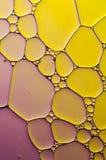 Bolle variopinte artistiche di sapone e del petrolio in acqua Immagini Stock Libere da Diritti