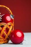 bollen är kan använt säsongsbetonat för projekt för julgarneringferie Arkivfoto
