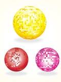 bollen colours disko tre Royaltyfria Foton