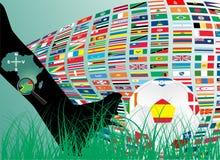 bollen flags fotboll Royaltyfria Foton