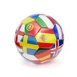 bollen flags fotboll Royaltyfri Foto