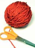 bollen scissors garn Royaltyfria Bilder