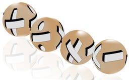 Bollen van wiskundesymbolen Stock Foto