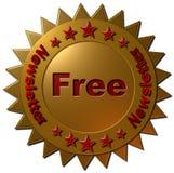 Bollettino libero (guarnizione dorata) Fotografia Stock