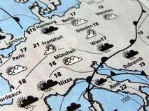 Bollettino meteorologico Fotografia Stock Libera da Diritti