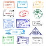 Bolli del passaporto illustrazione di stock