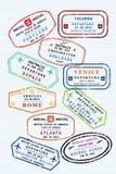 Bolli del passaporto Fotografia Stock
