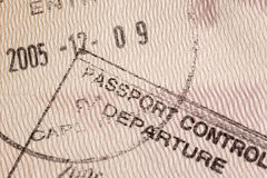 Bolli del passaporto Fotografia Stock Libera da Diritti