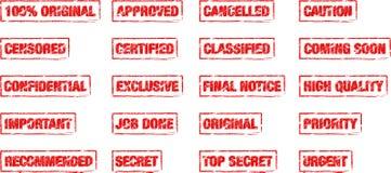 Bolli dell'ufficio di rettangolo Fotografie Stock Libere da Diritti