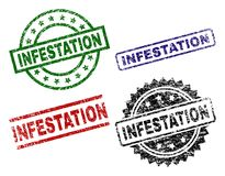 Bolli della guarnizione di INFESTAZIONE strutturati lerciume illustrazione di stock
