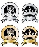 Bolli della parte superiore e del re illustrazione vettoriale
