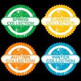 Bolli di lerciume con le collezioni per l'ogni stagioni illustrazione di stock