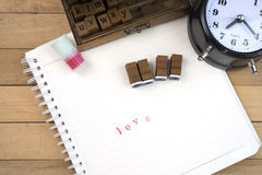 Bolli di lettera di amore per il giorno di S. Valentino Fotografia Stock