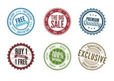 Bolli di vendita al dettaglio Immagine Stock