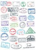 Bolli puliti del passaporto Immagini Stock Libere da Diritti